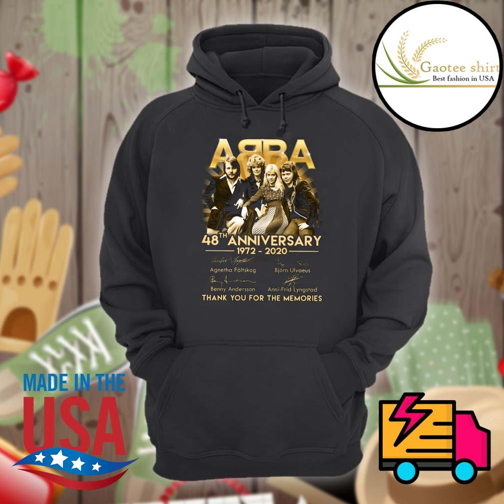 ABBA 48th Anniversary 1972-2020 thank you for the memories s Hoodie