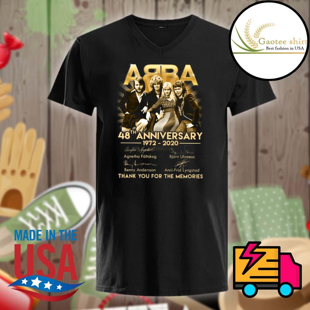 ABBA 48th Anniversary 1972-2020 thank you for the memories shirt