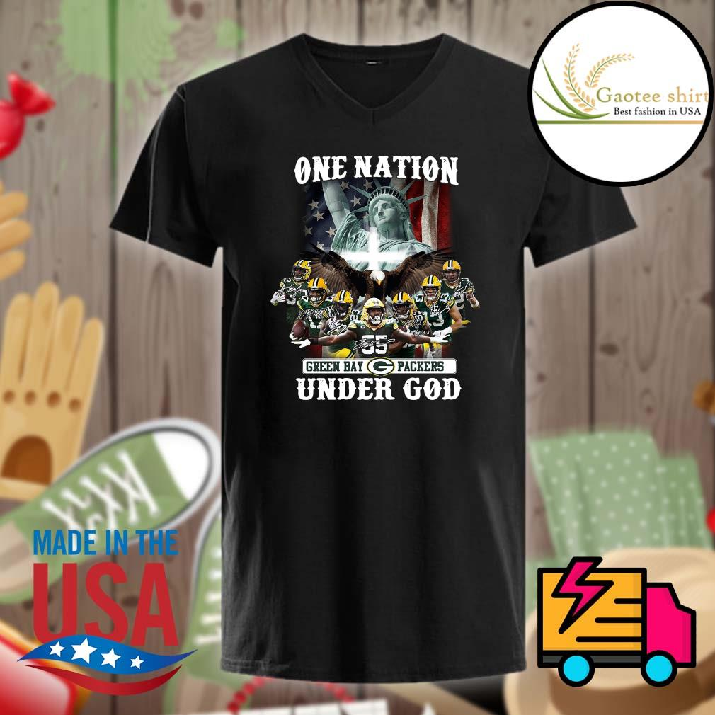 One Nation Green Bay Packers under God shirt