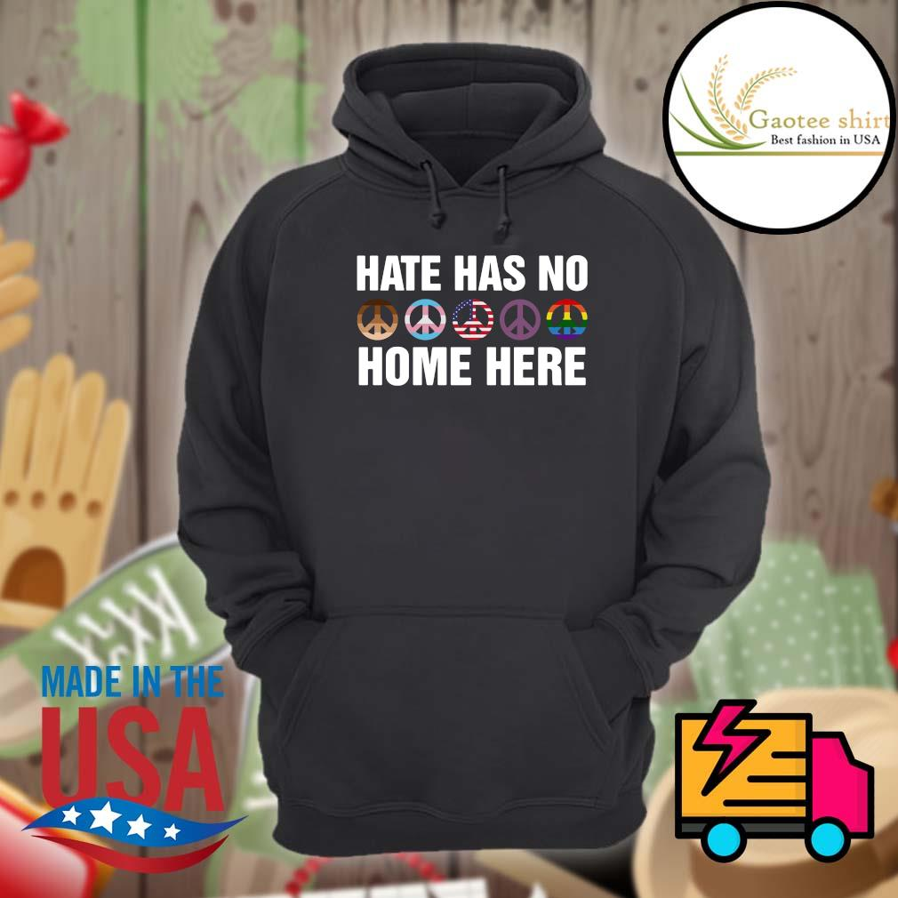 Símbolo da paz hate has no home here s Hoodie
